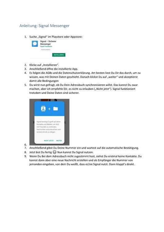 Datei:Anleitung Signal Messenger.pdf – Projektwiki - ein Wiki mit ...